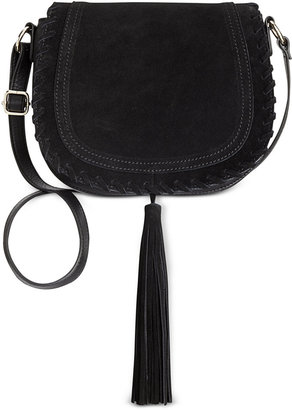 INC International Concepts Willow Saddle Tassel Bag, Only at Macy's $69.50 thestylecure.com