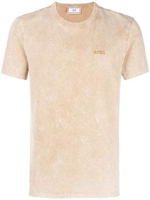 Ami Alexandre Mattiussi T-Shirt With Acid Washed Effect