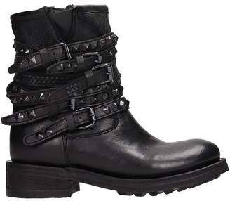 Ash Black Calf Leather Tempt Boots