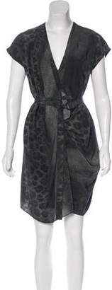 AllSaints Printed Silk Mini Dress