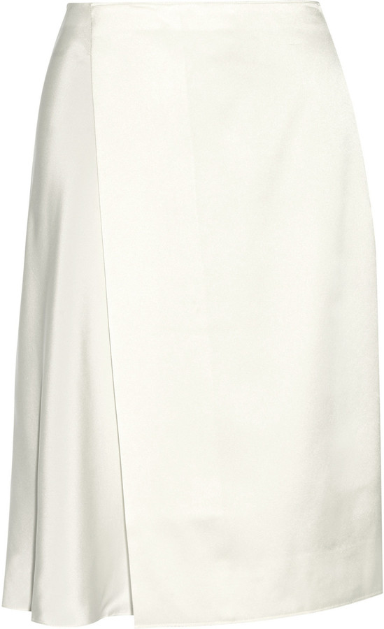 3.1 Phillip Lim 3.1 Phillip Lim Satin-paneled silk skirt