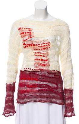 Bottega Veneta Coated Open Knit Sweater