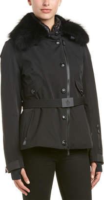 Moncler Sappey Down Fur Trim Coat