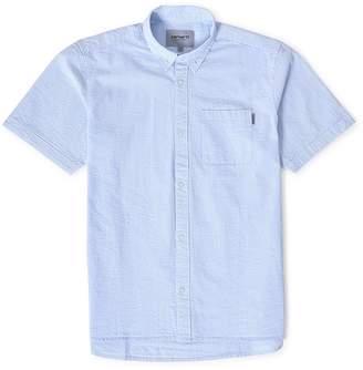 Carhartt WIP Alder Short Sleeve Stripe Shirt Blue