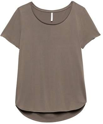 Banana Republic Sandwashed Modal Blend Scoop-Neck T-Shirt
