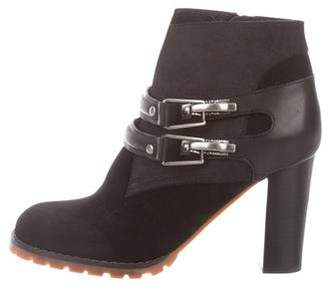 See by Chloe Suede Leather-Trimmed Ankle Boots