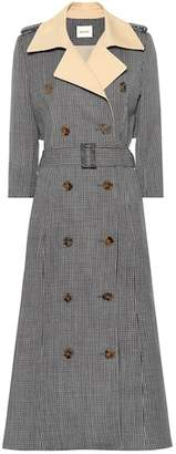Khaite Charlotte tweed trench coat