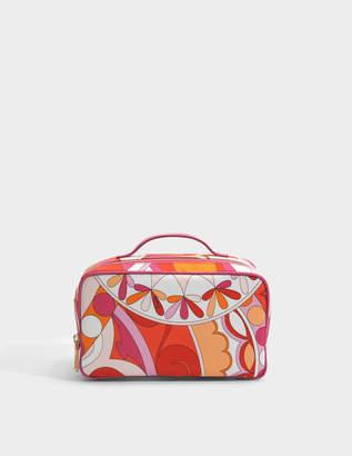 Emilio Pucci Capri Big Case Bag in Orange Printed Nylon