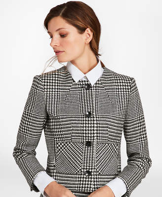 Brooks Brothers Glen Plaid Wool Twill Jacket