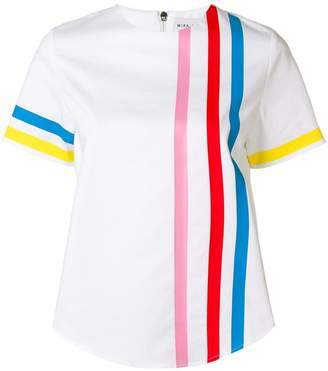 Mira Mikati rainbow stripe scuba top