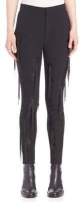 MS MIN Fringe-Detail Pants