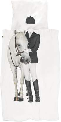 Equestrian Print Cotton Duvet Cover Set