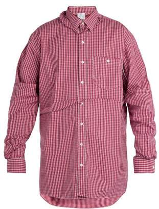 Vetements Double Layer Torn Effect Shirt - Mens - Red