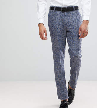 Blend of America ASOS DESIGN ASOS TALL Slim Suit Pants In Blue Flecked Wool