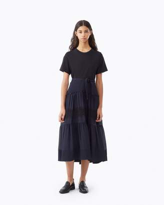 3.1 Phillip Lim T-shirt Dress With Lace Skirt