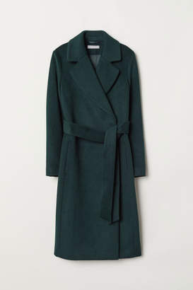 H&M Wool-blend Coat - Green