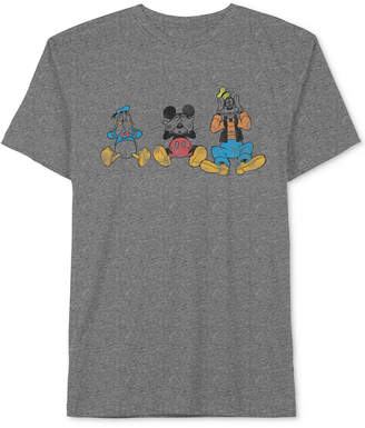 JEM Men's Disney Donald Duck, Mickey Mouse & Goofy Graphic-Print T-Shirt