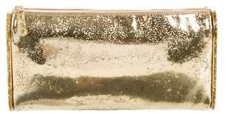 Edie Parker Metallic Zip Clutch