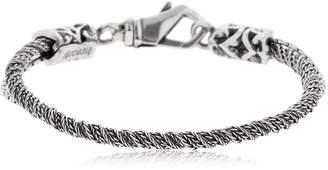 Emanuele Bicocchi Twisted Silver Chain Bracelet