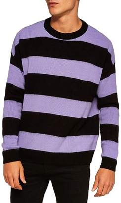 Topman Block Stripe Classic Fit Sweater