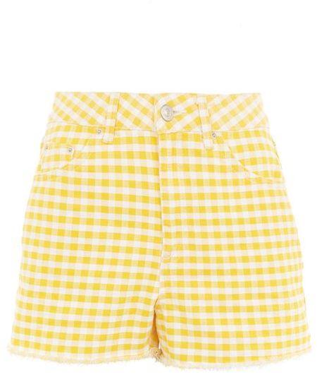 TopshopTopshop Moto gingham mom shorts