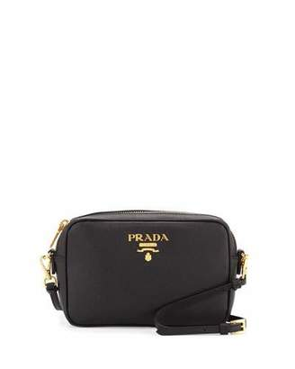 Prada Small Saffiano Camera Crossbody Bag, Black (Nero) $850 thestylecure.com
