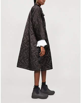 Comme des Garcons Comme Mandarin-collar quilted satin dress