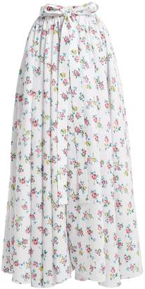 Emilia Wickstead Evelyn floral-print linen maxi skirt