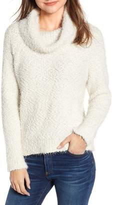 Cupcakes And Cashmere Cowl Neck Boucle Sweater