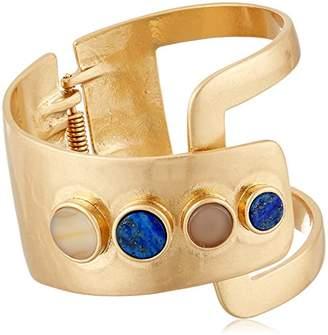 Danielle Nicole Ife Cuff Silver Bangle Bracelet