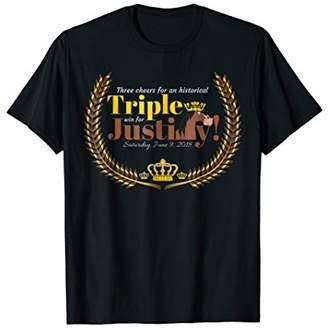 2018 Crown Winner Horse Race T-Shirt Stakes Justify Souvenir