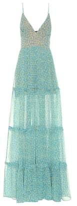 Amiri Floral-printed silk maxi dress