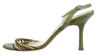 Jimmy Choo Lizard Slingback Sandals