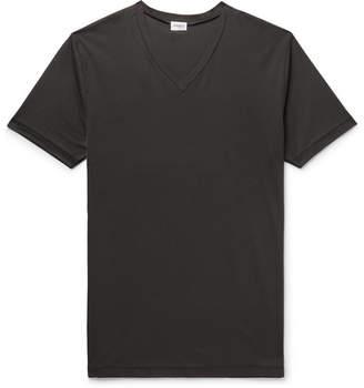7c3da20ddba5 Zimmerli Striped Stretch-Cotton T-Shirt - Men - Charcoal