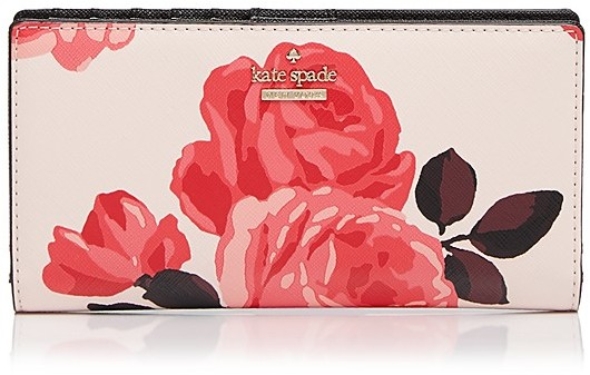 Kate Spade kate spade new york Cameron Street Roses Stacy Saffiano Leather Continental Wallet