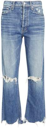 Mother The Tripper Distressed Jeans