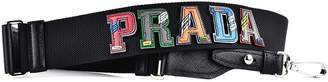 Prada Fabric Shoulder Bag With Logo Patch