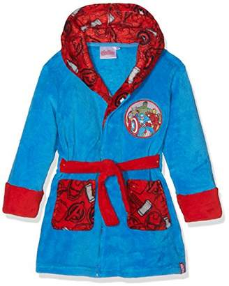Marvel Boy's Avengers Symbols Dressing Gown,9-10 (Size: 10 Years)