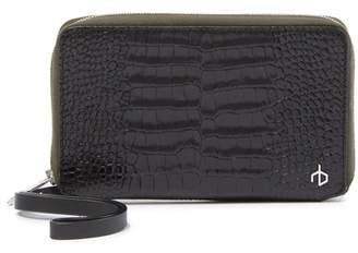 Rag & Bone Croc Embossed Leather Phone Wallet