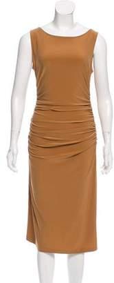 Norma Kamali Kamalikulture x Sleeveless Ruched Dress