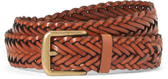 Mulberry Oak Braided Leather Boho Buckle Belt