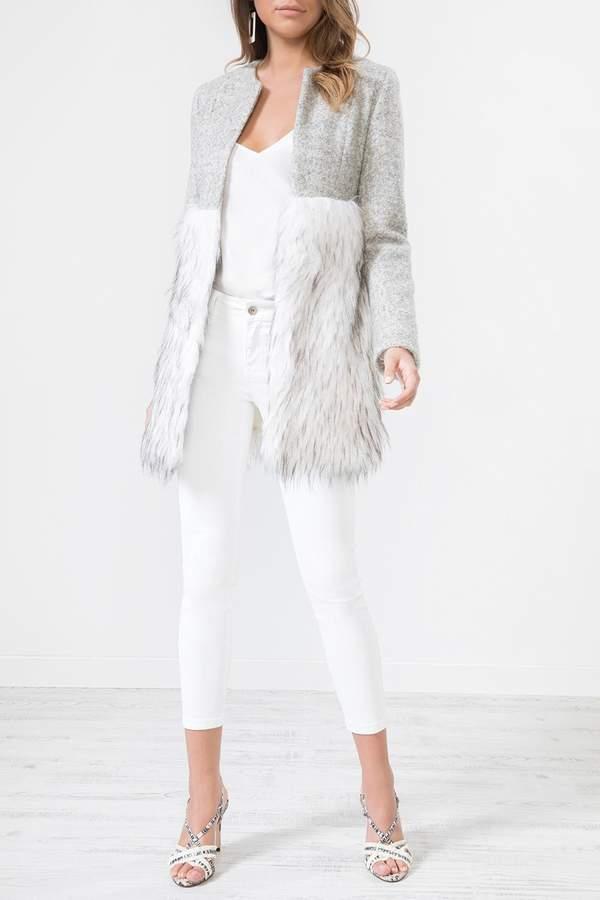Urban Touch Fur Body Woolcoat