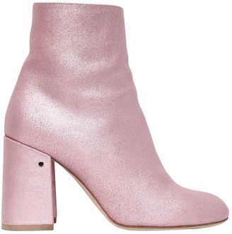 90mm Philae Glitter Leather Ankle Boots $920 thestylecure.com