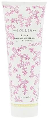 Lollia (ロリア) - ロリア(LoLLIA) パフュームドシャワージェル Relax 236ml(全身用洗浄料 ボディーソープ ホワイトオーキッド、タヒチアンバニラ、ハチミツ、アンバーの香り)