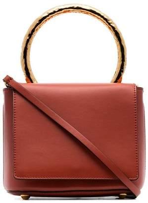 Marni orange pannier leather box bag
