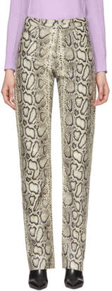 Kwaidan Editions White Snake Biker Trousers