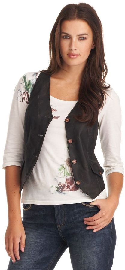 Bootheel trading co. faux-leather vest
