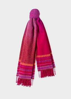 Paul Smith Women's Red Ombré Lambswool And Cashmere Scarf