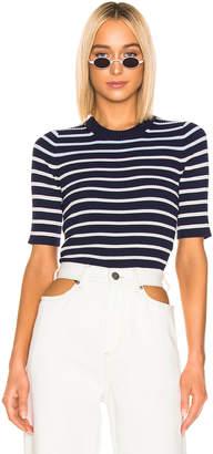 Acne Studios Kassandra Knit Top in Navy & White | FWRD