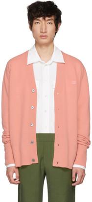 Acne Studios Pink Neve Face Cardigan